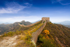 The great wall of china in autumn Royalty Free Stock Images