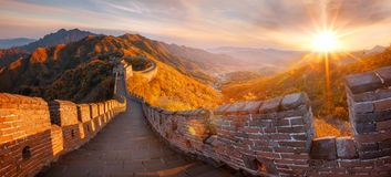 Great Wall of China. In autumn Royalty Free Stock Photography
