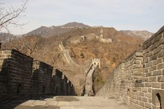 Great Wall of China on autumn sunny day stock photos