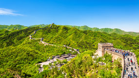 The Great Wall of China. In Badaling Royalty Free Stock Images