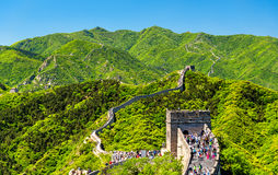 The Great Wall of China. In Badaling Stock Images