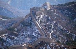 The Great Wall of China in Badaling, China.  Royalty Free Stock Photo