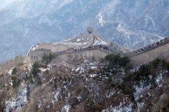 The Great Wall of China in Badaling, China.  Royalty Free Stock Image