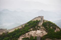 The Great Wall of China at Badaling Stock Image