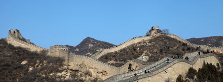 Great Wall of China. Badaling section Royalty Free Stock Photography
