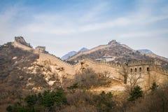 China, Great Wall of China. Great Wall of China, the Badaling section stock photos