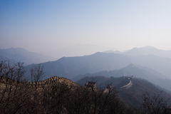 The great wall of china with a beautiful sunny day stock image
