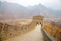 Great Wall of China, Beijing, China. Views of the mountains from the Great Wall of China, Beijing, China royalty free stock photos