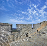 Great Wall China with a blue sky and dramatic clouds Royalty Free Stock Photos