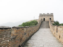 Great wall in china. Brick wall on great wall Stock Photography