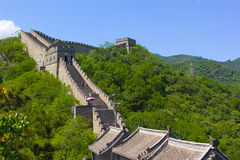 The Great Wall of China. On a bright summer day Stock Images