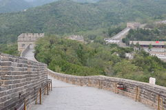 Great Wall of China with Chinese Flag Royalty Free Stock Photography
