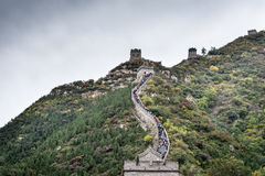The Great Wall of China on a cloudy day Stock Images