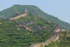 The Great Wall of China Crowded. The Great wall of China outside of Beijing with many tourist Stock Photography
