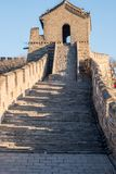Great Wall of China - Day Winter browns, corner turret watchtower - with no recognisable people. Great Wall of China, a massive wall made of bricks and rice Royalty Free Stock Photography