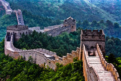 Great Wall of China. Deserted stretch of the Great Wall of China Stock Photos