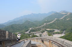 The  Great Wall of China. The Great Wall of China extends as far as the eye can see Royalty Free Stock Photography