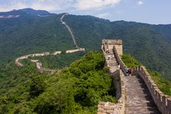 Great Wall of China. Mutianyu section, located nearby Beijing city royalty free stock image