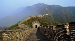 Great wall of china. Section at mutianyu Royalty Free Stock Photography