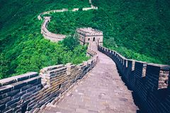 The Great Wall of China. Great Wall of China is a series of fort Royalty Free Stock Photography