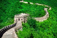 The Great Wall of China. Great Wall of China is a series of fort. Ifications made of stone brick Stock Images