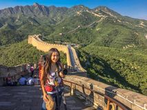 Great Wall of China. Great Wall of China the world wonder of the longest wall of the world Royalty Free Stock Photos