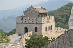 Great Wall of China Guard Station. An ancient guard station still stands on the great wall stock photos