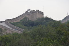 Great Wall of China Guard Tower. The Great Wall with guard tower Royalty Free Stock Photography