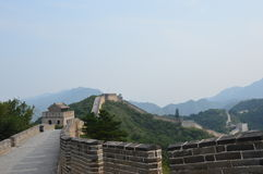 Great Wall of China Guard Tower. The Great Wall with guard tower Stock Photos