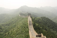 The Great Wall of China in a haze Stock Image
