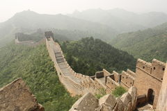 The Great Wall of China in a haze Royalty Free Stock Photography