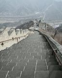 On the Great Wall of China Stock Photo
