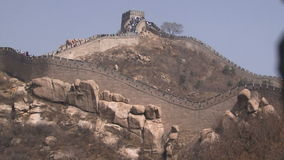 Great Wall of China showing how it spirals stock video footage