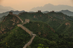 The Great Wall of China at Jinshanling. Is one of the seven wonders of the world and a UNESCO world heritage site. This section is to the north of Beijing Royalty Free Stock Photos