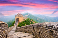 Great Wall of China. At the Jinshanling section stock photography