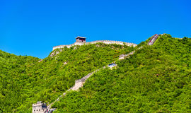The Great Wall of China at Juyongguan - Beijing. View of the Great Wall of China at Juyongguan - Beijing royalty free stock photo