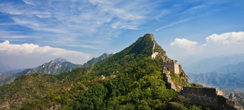 Great Wall of China landscape. A view high in the mountains of the Great Wall of China Stock Images