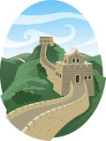 Great wall of china. Landscape illustration stock illustration
