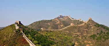 Great Wall of China landscape view Royalty Free Stock Photo
