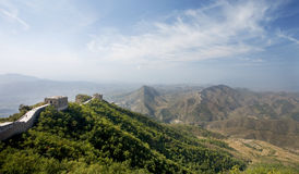 Great Wall of China landscape view Stock Photography