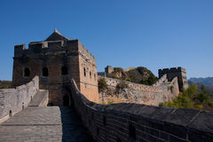 Great Wall in China. Leading from Jinshanling to Simatai Stock Images