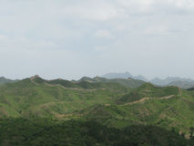 Great Wall of China Long View. A long view of the Great Wall of China s Royalty Free Stock Images