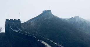 Great Wall of CHINA in the mist royalty free stock photo