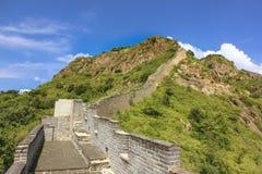 The beginning of the Great Wall of China, Mountain Jiaoshan, Shanhaiguan Royalty Free Stock Photos