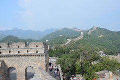 Great Wall of China Mountain Scene. Amazing Great Wall of China with majestic mountains rising in the distance Stock Image