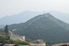 Great Wall of China with Mountains. The Great Wall of China with mountains in the background Stock Photos
