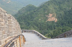Great Wall of China with Mountains Stock Image
