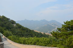 Great Wall of China Mountains stock photo