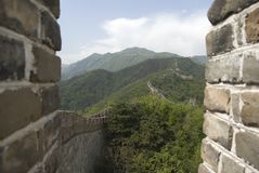 Great Wall of china mutianyu Royalty Free Stock Photo