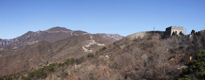 Great wall of china mutianyu beijing Royalty Free Stock Image